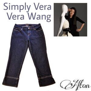 Simply Vera Vera Wang Straight Cropped Jeans